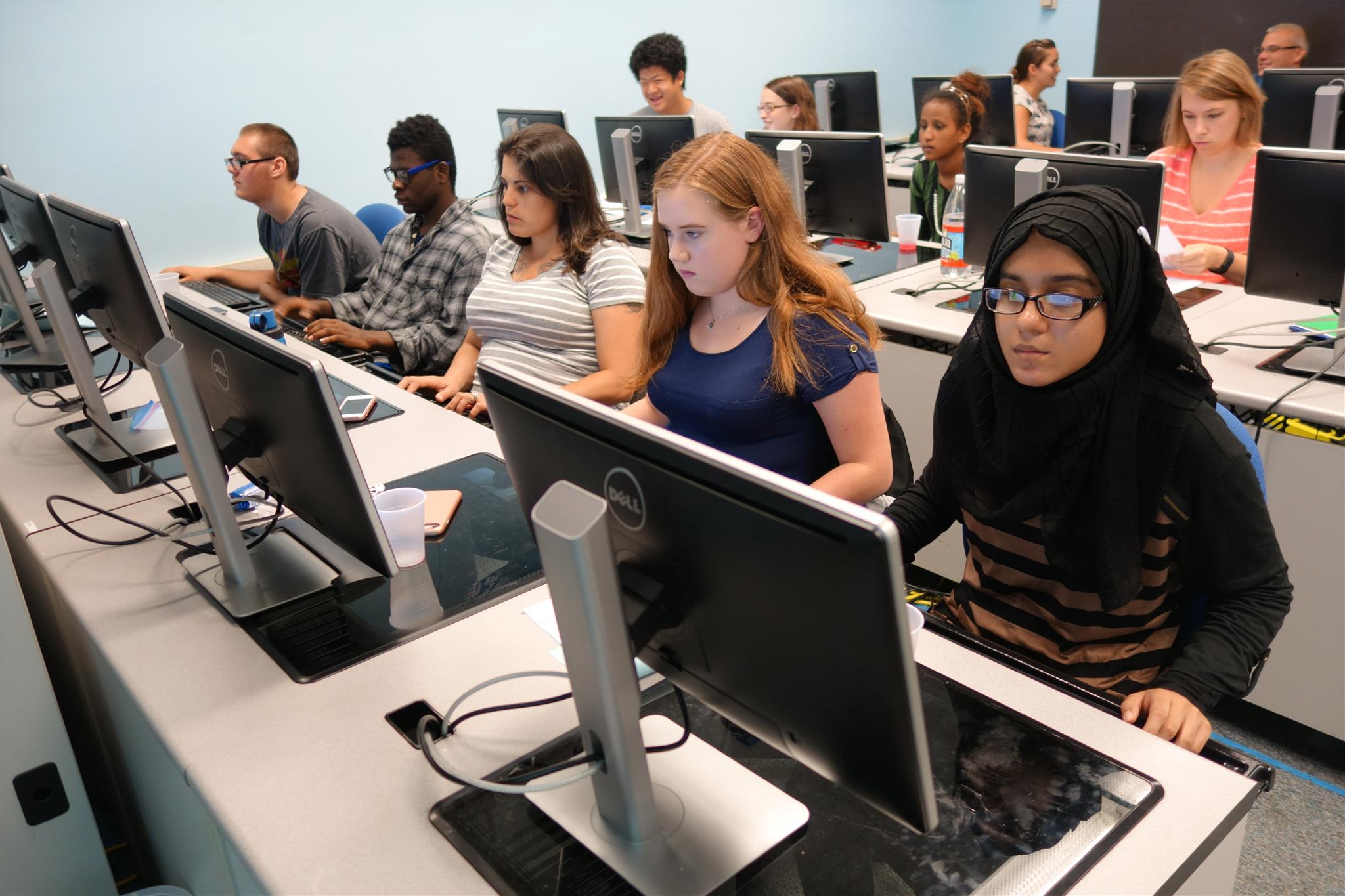 At the Summer Camp, students and teachers learn web-based geo-technology